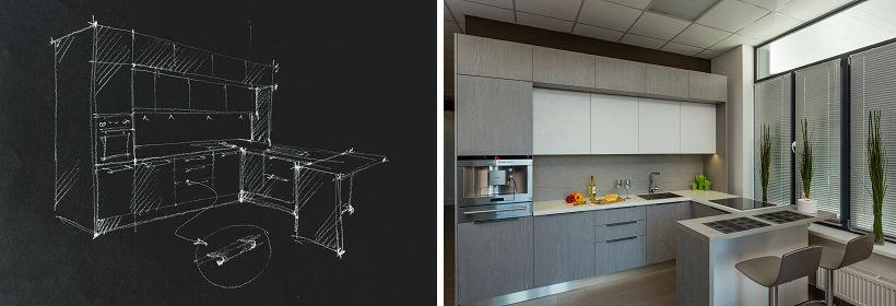 проект современной кухни